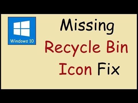 Missing recycle bin icon Windows 10 Fix