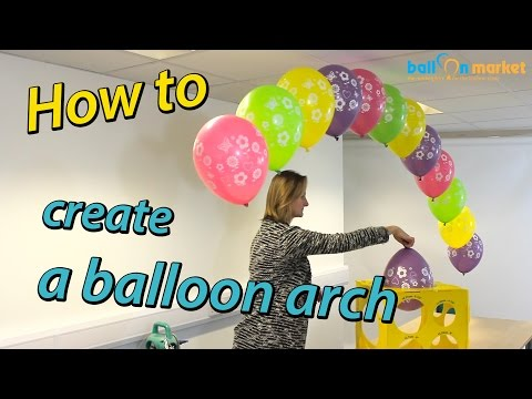 How To Make a Balloon Arch with Helium