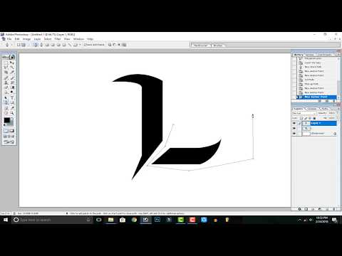 How to Create / Make a (L) Logo on Adobe Photoshop 7.0
