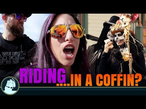 whole town is HAUNTED! people in COFFINS EVERYWHERE! | MackeyFam