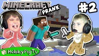 Minecraft Prank Adventure 2 Herobrine House HobbyPigTV