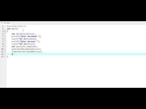 How to find quotient and remainder C Program