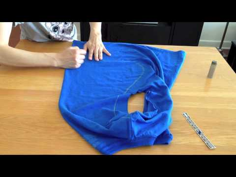 DIY Superhero Cape from T-Shirt