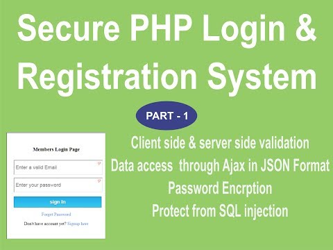 PHP Secure Login and Registration System by webtuts