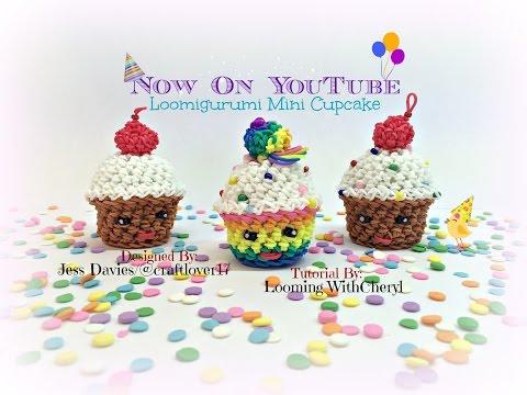 Rainbow Loom Loomigurumi Mini Cupcake Muffin Amigurumi Hook Only кекс Лумигуруми