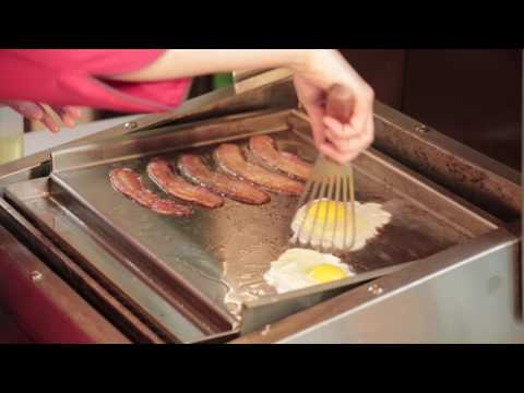 Eggs & Bacon (& Biscuits!) on TEC's Commercial-Style Flat-Top Griddle
