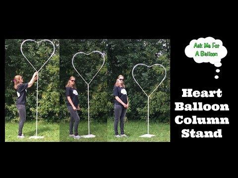 Heart Balloon Column Stand