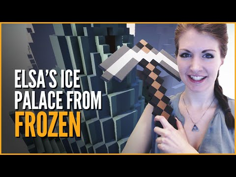 Elsa's Ice Palace from Frozen - Minecraft Build