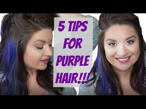 5 TIPS FOR PURPLE HAIR!!! Make your color last LONGER!
