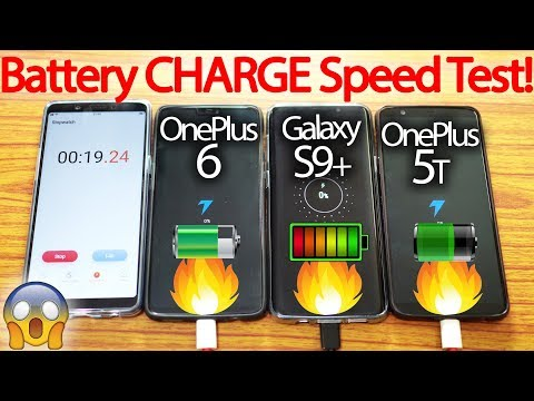 OnePlus 6 vs Galaxy S9+ Plus vs OnePlus 5T -Battery Charging Speed Test!🔥