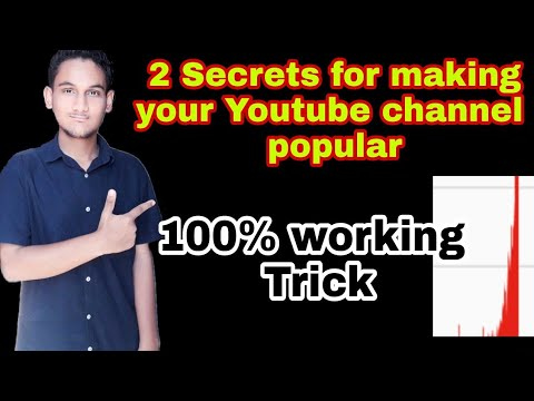 Two secret tricks to make your Youtube channel popular | VIRAL
