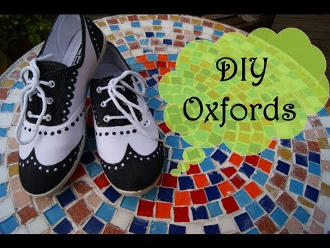 DIY OXFORDS | PAINT YOUR SHOES!