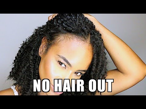 NO Cornrows CROCHET BRAIDS & No leave Out! (vlog style natural hair)