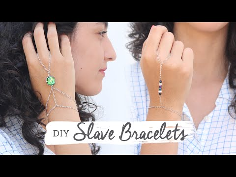 DIY 2 Styles of Slave Bracelets (ring bracelets / hand chain) | Curly Made