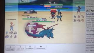 Pokemon Showdown Battle