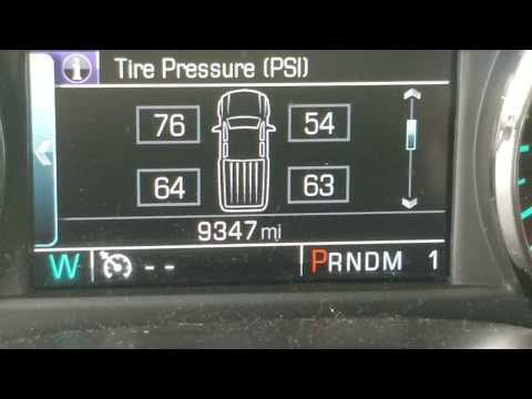 TPS Reset After Flat Tire GM 2500hd 2015 and later