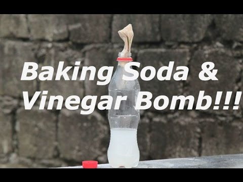 How To Make A Baking Soda and Vinegar Bomb (Very Loud)