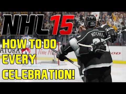 NHL 15: How To Do Every Celebration! (Tutorial)