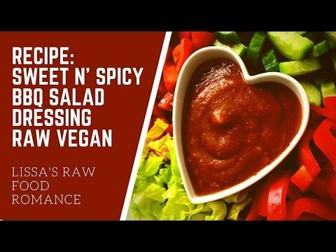 RECIPE: SWEET AND SPICY BBQ SALAD DRESSING || RAW FOOD VEGAN