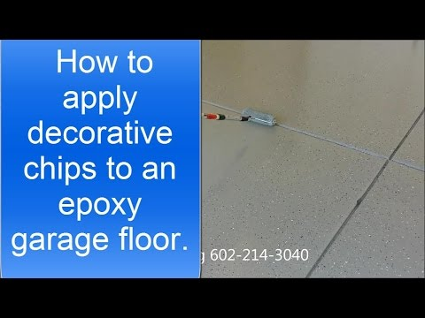 How to apply decorative chips (or flakes) to an epoxy garage floor.