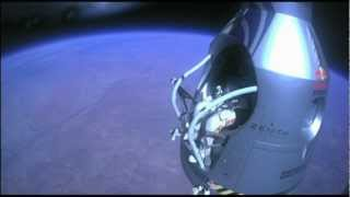 Felix Baumgartner world record supersonic skydive, complete footage, unaltered capture, HD