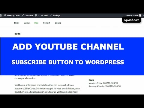 How To Embed YouTube Channel To a WordPress Website
