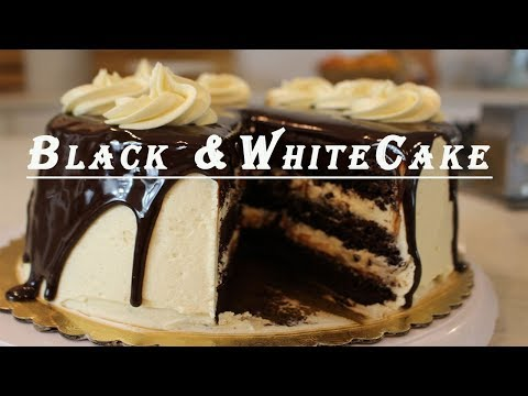 The Ultimate Black & White Cake: Chocolate Cake with Vanilla Buttercream