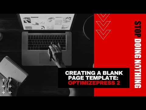 Create a blank page template in OptimizePress 2