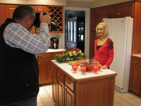 Betty's Christmas Punch Photo Shoot for Lexington Herald-Leader Newspaper