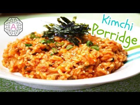 【Korean Food】 Kimchi Porridge (김치죽)