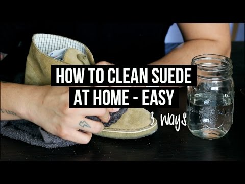 HOW TO CLEAN & MAINTAIN SUEDE SHOES (AT HOME) - 3 EASY WAYS | JAIRWOO