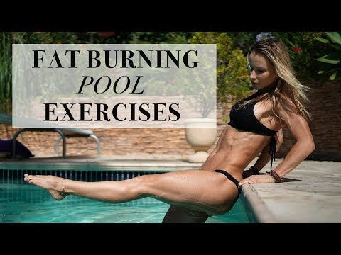 10 BEST FAT BURNING EXERCISES YOU CAN DO IN THE POOL - 5 Minute Fit Friday with Z
