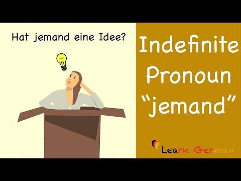 Learn German | German Grammar | Indefinite Pronoun