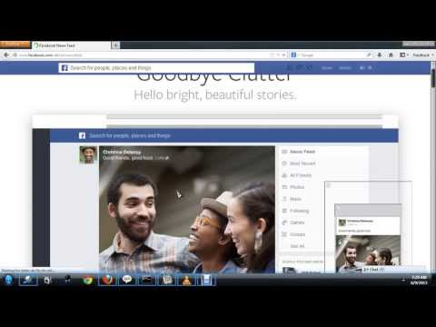 How to enable New Facebook Look 2013