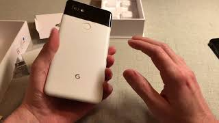 Google Pixel 2 XL White & Black (Penguin) Unboxing and Overview