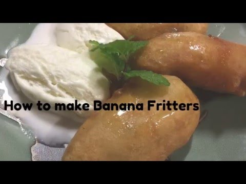 How to make Banana Fritters