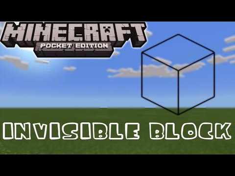 MCPE 1.4+ How To Get Invisible Block ~ SECRET BLOCK