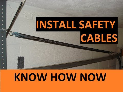 How to Install a Garage Door Safety Cable