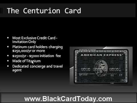 American Express Black Card - Centurion