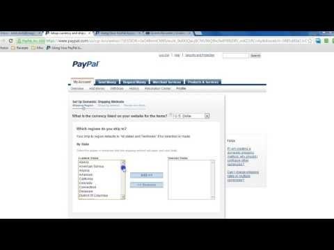 PayPal Profile Based Shipping Setup Tutorial