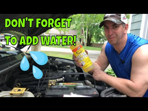 How To Add Water to a Car Battery That Requires Maintenance