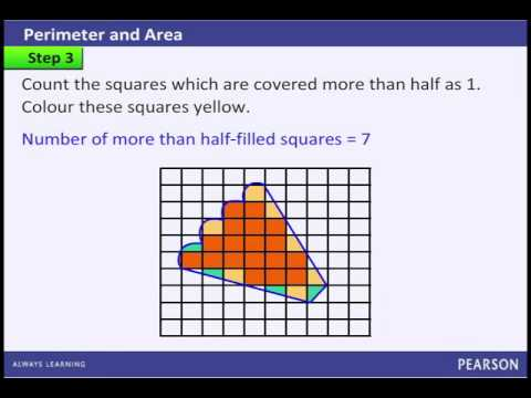 How to calculate the Area of a given Irregular Figure using a Square Grip Paper?