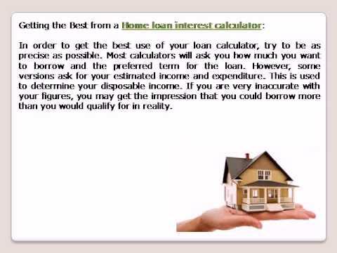 Home loan interest calculator