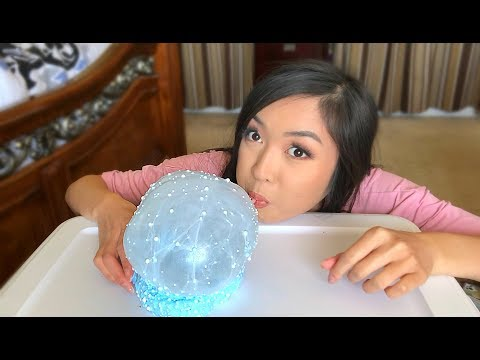 BLOWING BUBBLES INTO SLIME