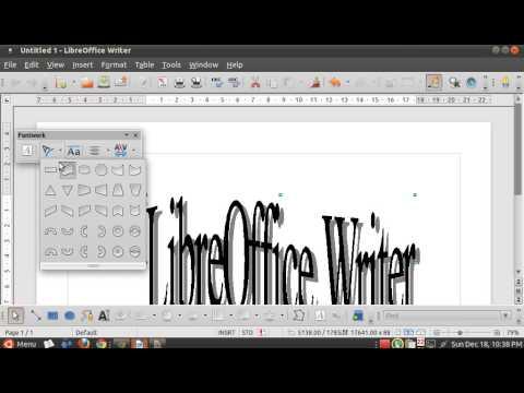 Mengenal word Art di LibreOffice Writer