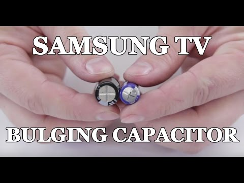 Samsung TV Won't Turn On - How to Repair Bulging Capacitor for Clicking Noise
