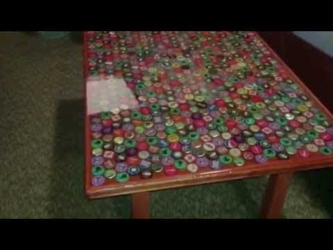 How to make a bottle cap table
