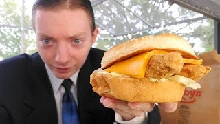 Arby's NEW Chicken Cheddar Ranch Sandwich Review!