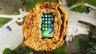 Can Cookie Dough Protect an iPhone 7 From 100 FT Drop Test?!