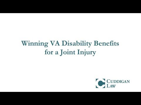 Winning VA Disability Benefits for a Joint Injury